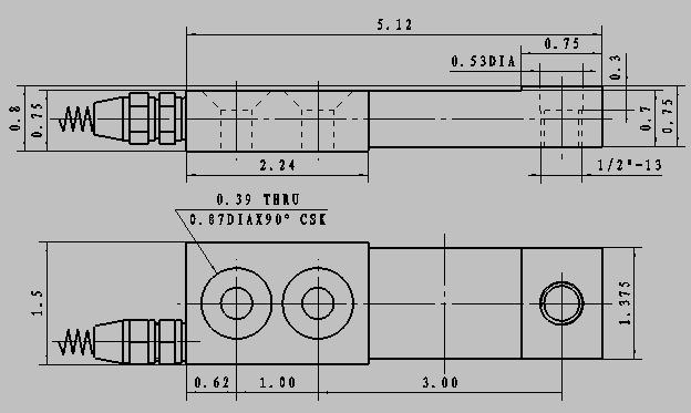 td631 ended beam load cells